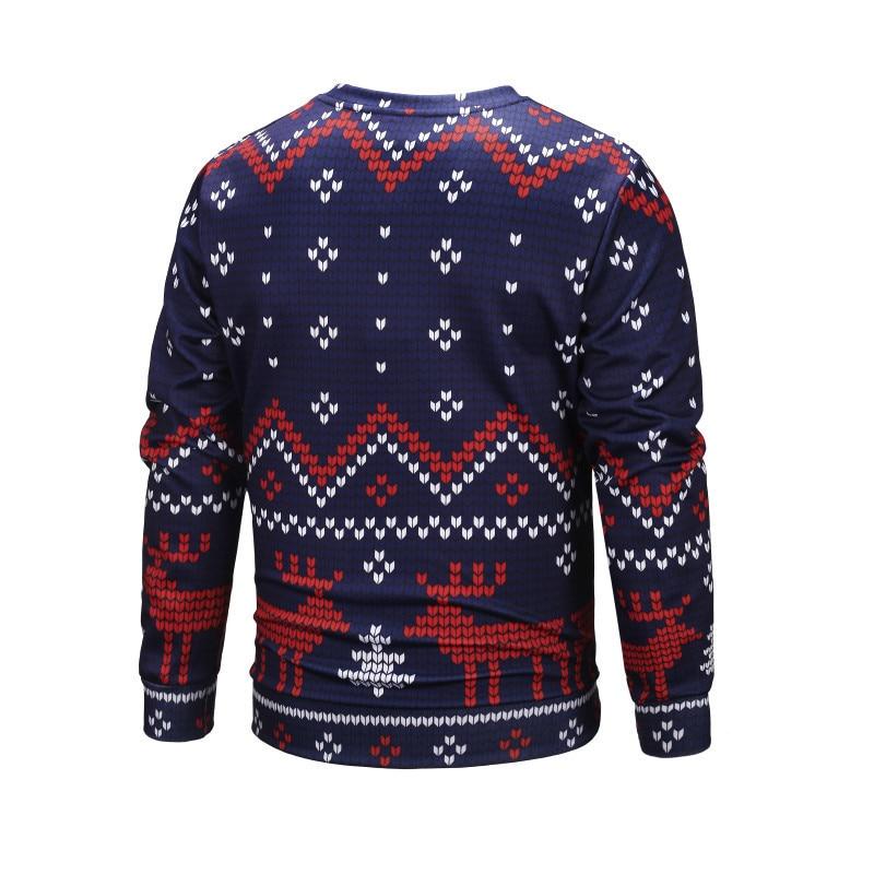 d3c1cbf1c929 Funny Christmas Pullovers Men Santa Claus Purple Sweatshirt Elk Print 2019  New Year Polyester 3d Hoodie Male Autumn Clothing