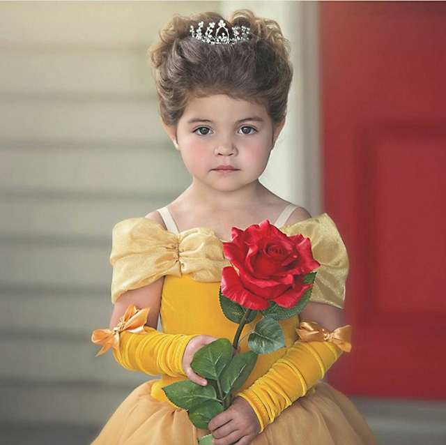 Baby Girls Beauty and the Beast Costume Tulle Kids Princess Belle Party Gown Halloween Birthday Dress Clothes Summer Frock 4