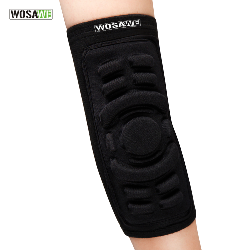 WOSAWE 2Pcs For Cycling Volleyball Tennis Elbow Protection Sports Safety Gel Elastic Elbow Brace Sleeve Elbow Pads BC316