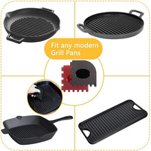 Silicone cleaning  Blade Scraper smoother Serrated Iron Pot Grill Pan Edge Side Cooker Cleaning Tools