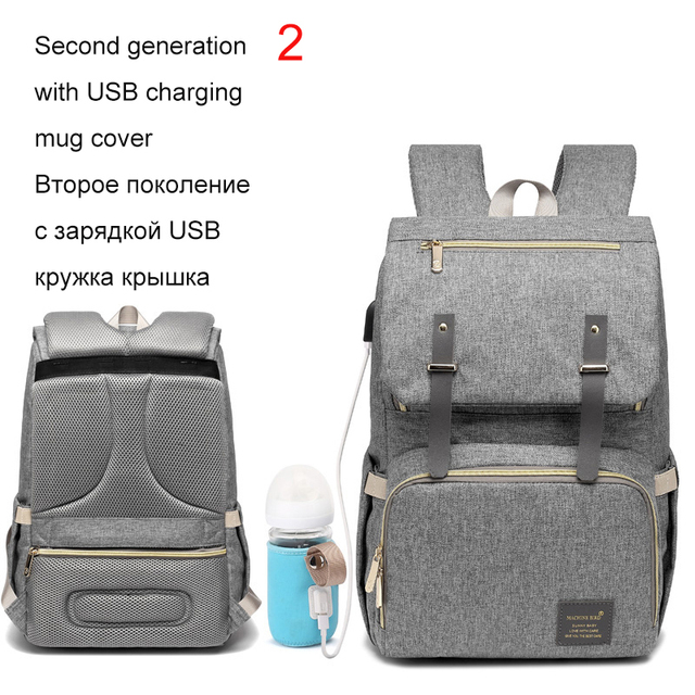 Fashion Large Capacity Baby Nappy Bag Diaper Bag Purse Multifunction USB Mummy Travel Backpack Women Nursing Bags For Mom Daddy 5
