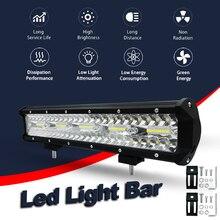 AZGIANT 15 Car Led Light Bar 6000K 300W White font b Lamp b font Offroad Work