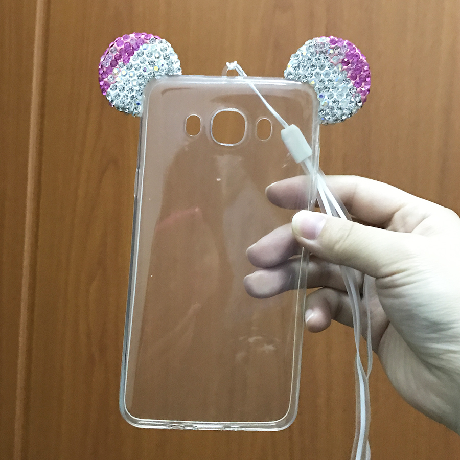 luxury rhinestone mickey mouse ears phone cases coque for samsung galaxy s8 s7 s6 edge plus j5. Black Bedroom Furniture Sets. Home Design Ideas