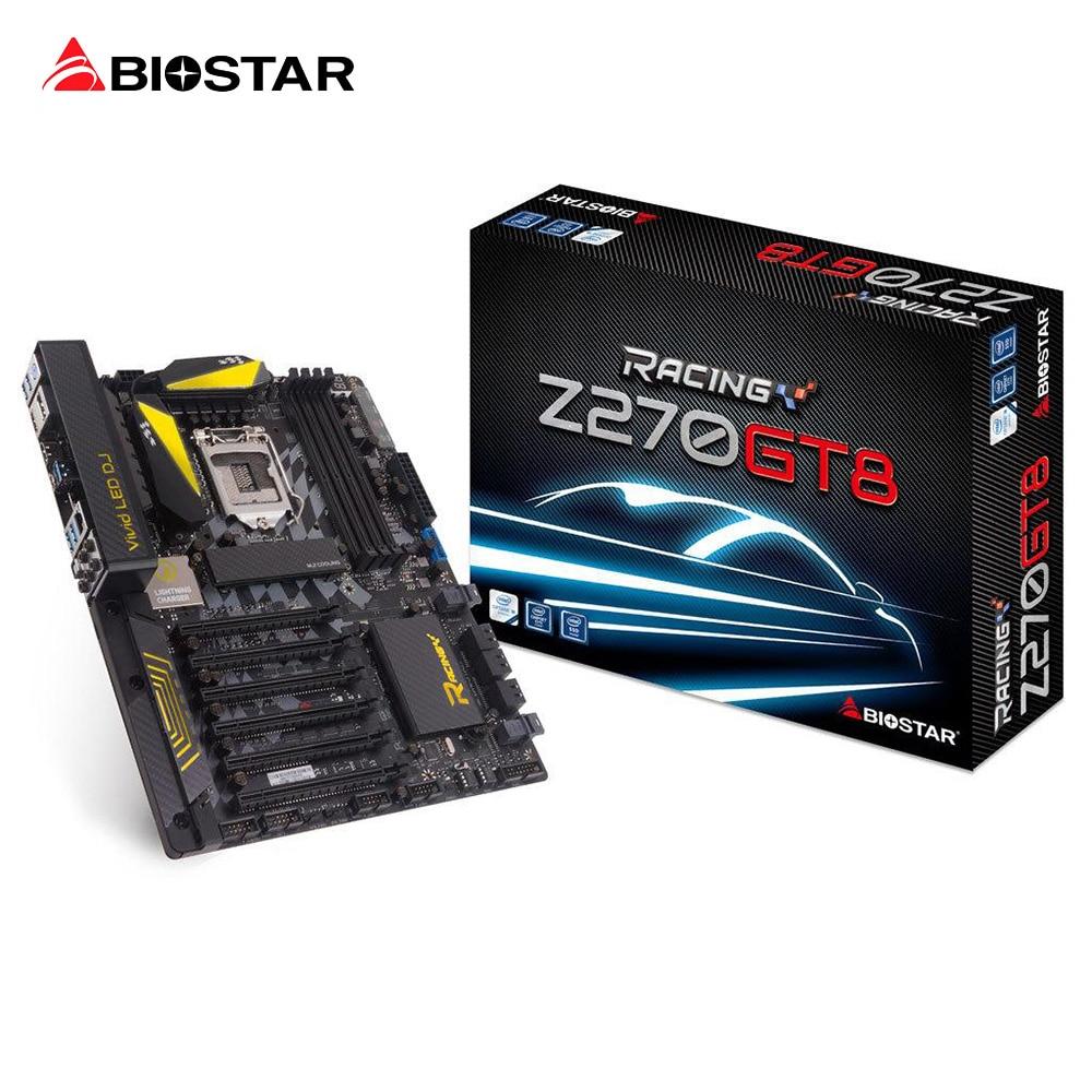 BIOSTAR Z270GT8 1151 Motherboard Support DDR4 64G Z270 LGA 1151 6PCI-Ex16 U.2+M.2 Core i7 i5 i3 Desktop Computer Motherboard