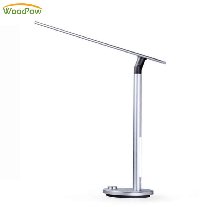 Dimming LED Dual Light Source Memory Desk Lamp Eye-protection Folding Aluminum Alloy Table Lamp for Learning/Working PK Xiaomi folding 4w led table lamp with child eye protection light desk lamp for study portable ed light with calendar alarm colck