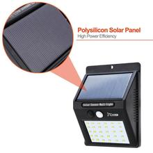 4 X 30 LED Solar Powered Wall Light Motion Sensor Outdoor Garden Security Lamp muqgew Security Wall light Waterproof
