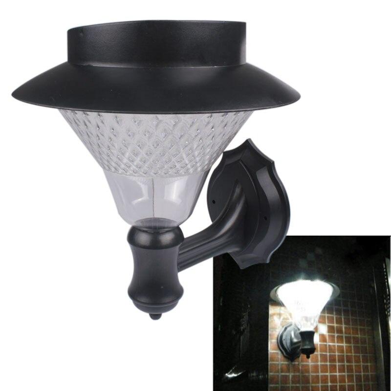 עמיד למים IP44 שמש Powered 16 נורות LED מסלול וול נוף חיצוני אור Gutter גדר חצר אור שמש led גן מנורה