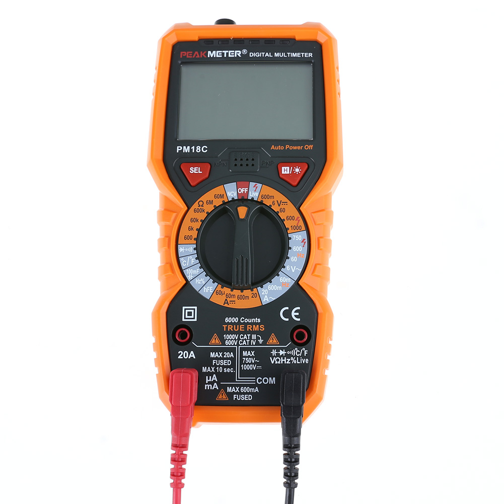 High Accuracy Multi-functional Digital Multimeter With True RMS AC/DC Voltage Resistance Capacitance Frequency NCV Tester hp 37k scope multimeter with high accuracy