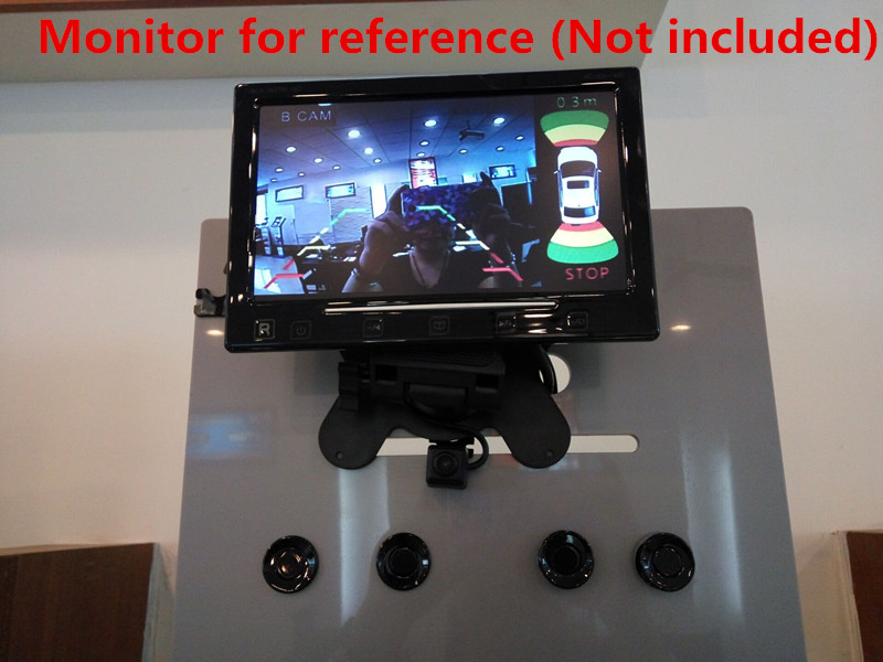 imágenes para Lo nuevo Dual Channel Car Estacionarse en Reversa System Radar 8 Sensor de Vídeo + Cámara Frontal + Cámara de Visión Trasera + imagen ve para BMW