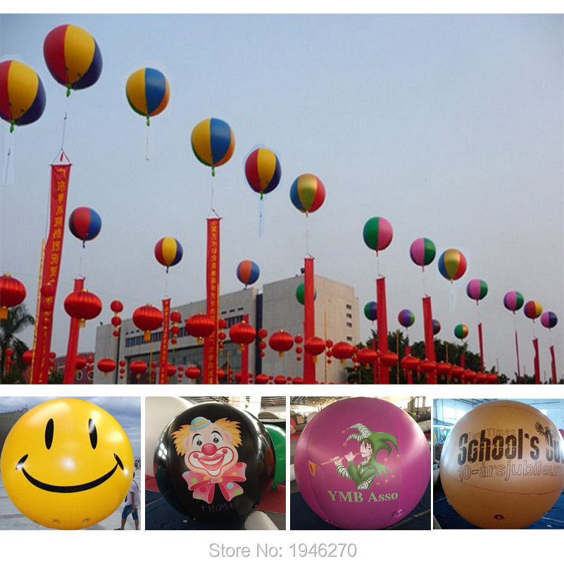 2M Helium balloon DIY logo photo printing Party decorations Anniversary party supplies Store promotion Giant PVC
