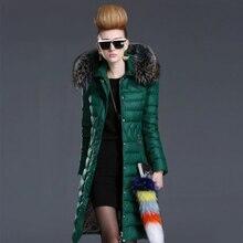 2017 Euope Fashion Women Down Coat Winter ukraine Long Coats Fur Collar manteau femme Winter Down Jackets mujer Parka Coats