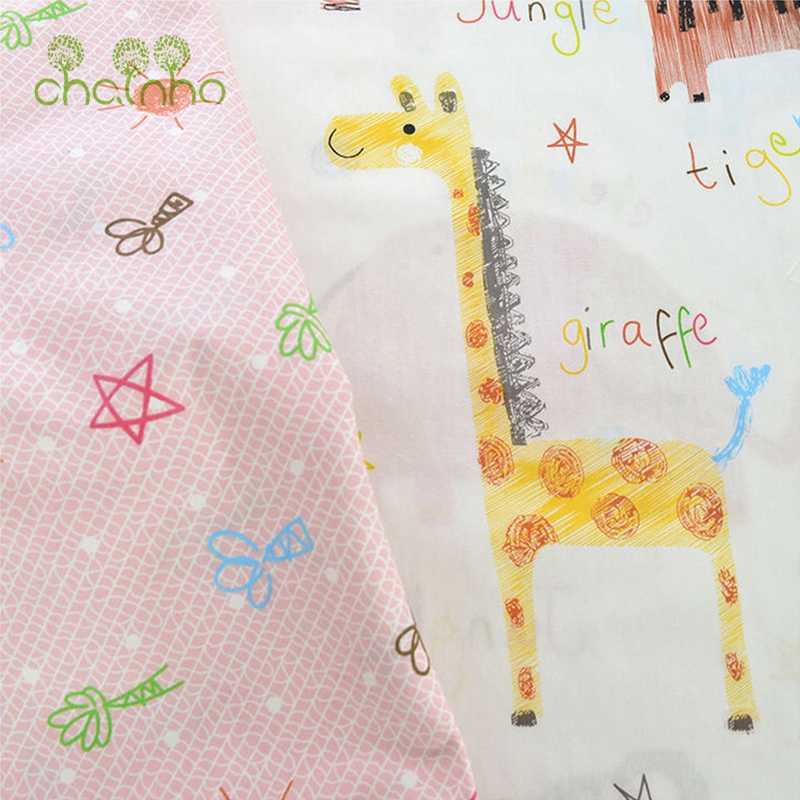 Printed Twill Cotton Fabric For Sewing Quilting Floral Tissue Baby Bed Sheets Sleepwear Children Dress Skirt Material CC104