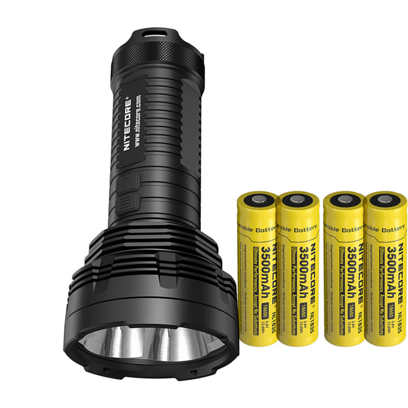 LED Flashlight NITECORE TM16 TM16W CREE XM-L2 U2 LEDs max. 4000lm beam distance 700M Torch + 4pcs * 18650 3500mAh batteries 2017 new nitecore p12 tactical flashlight cree xm l2 u2 led 1000lm 18650 outdoor camping pocket edc portable torch free shipping