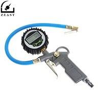 Digital Air Tire Pressure Inflator Gauge Car Truck Vehicle Motorcycle Pistol LCD Dial Meter Tester Flexible