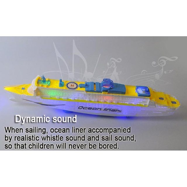Online Shop Boat Toys Cruise Ship Model Automatic Ocean Liner With - Toy cruise ship