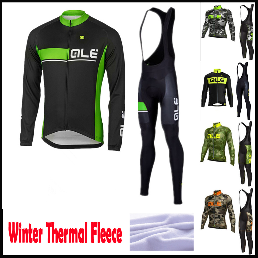 2016Unisex GEL Breathable Pad Pro Team Winter Thermal Fleece Cycling Clothing Jersey Ropa ciclismo invierno MTB Bike clothes