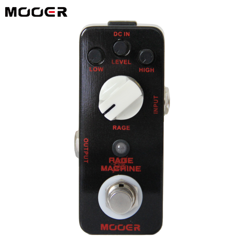 Фотография MOOER Rage Machine Pedal True bypass Excellent sound guitar pedal