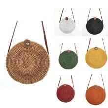 5 pcs Wholesale Rattan Bags For Women 2019 Straw Beach Shoul