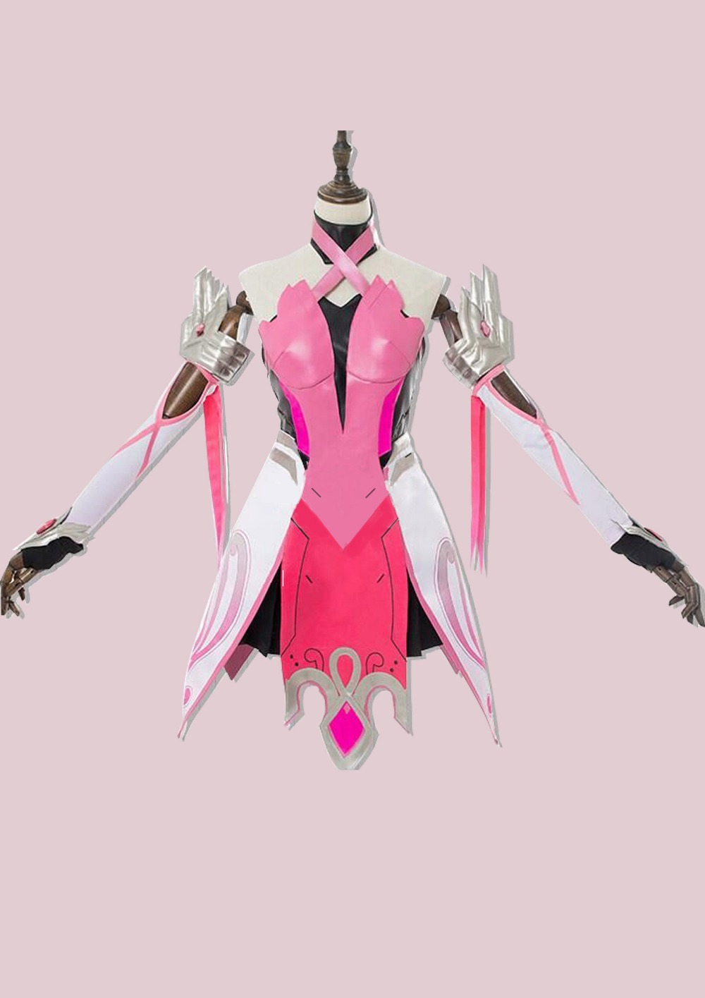 OW Mercy Cosplay pink suit mercy cosplay costume Mercy Angela Ziegler Pink Cosplay Costume 1