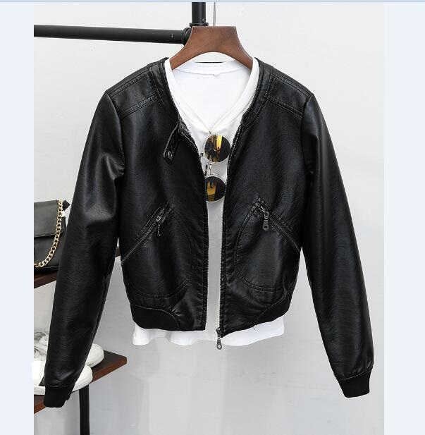 New arrivals 2017 ladies short pu   leather   coat motorcycle   leather   jacket women fashion cool outerwear   leather   jacket
