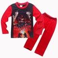 New Star Wars Мальчики Пижамы Наборы Весна Хлопок Рождественская Звезда войны Комплект Одежды Для Мальчиков Полный Рукав Рубашки Брюки Дети одежда