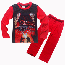 New Star Wars Boys Pajama Sets Spring Cotton Christmas Star Wars Clothing Set For Boys Full Sleeve Shirt Pants Children Clothing
