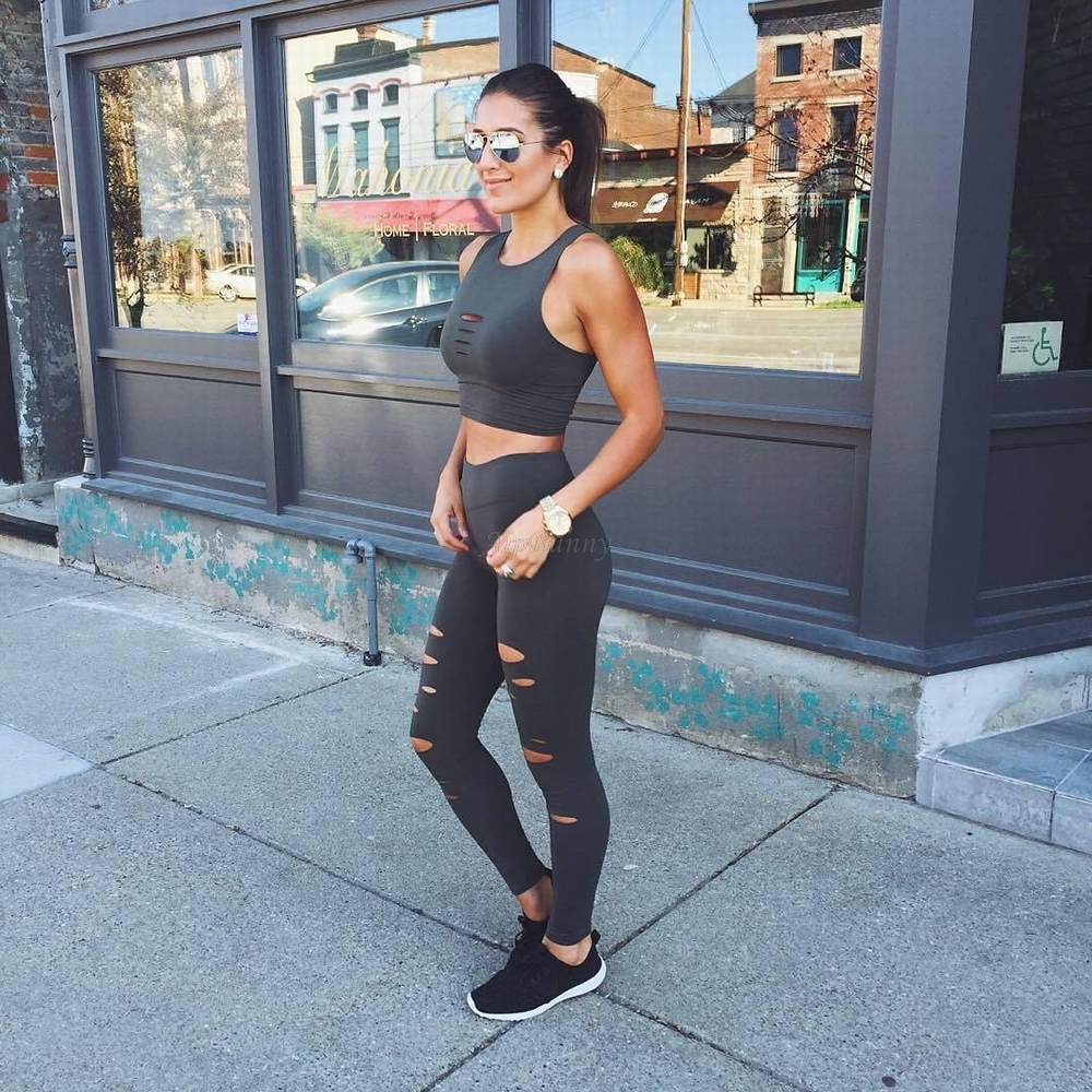Hollow Out Sweatpants Running Gym Gym Leggings Work Out Yoga Pants Women Compression Tights Push Up Fast Dry
