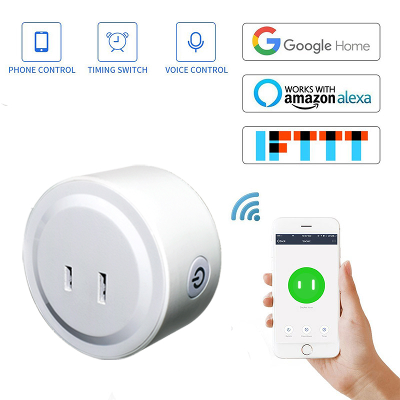 Lonsonho Smart Plug Wifi Smart Socket Japan Plug 10A Smart Home Automation Works With Google Home Alexa IFTTT Smart Life