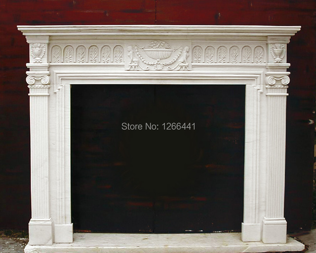Clical European Style Stone Fireplace Mantel Marble Surround Custom Made Chimney