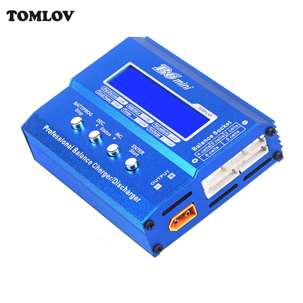 TOMLOV iMax B6 Mini Digital Professional Balance Charger/Discharger Max Dischage (5W) For RC Aircraft Car Battery skyrc sk 800084 01 b6 mini 6a 60w dc11 18v professional balance charger discharger w t 2 6lcd