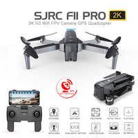 SJRC F11 PRO GPS 5G Wifi 500m FPV avec caméra grand Angle 2K 28 minutes de temps de vol Drone RC pliable sans brosse quadrirotor RTF