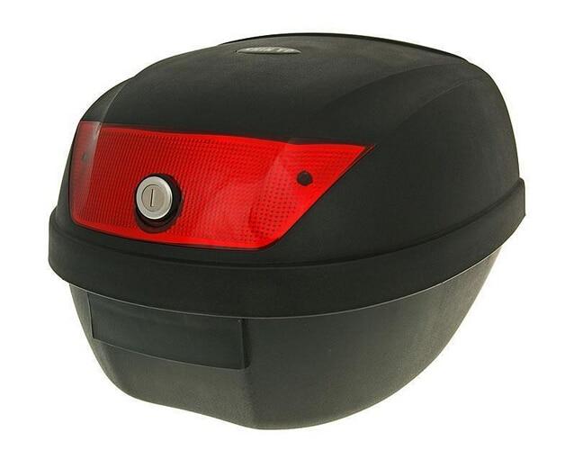 ПЕДА 2018 новая мода мотоцикл кофр 28Л не нарушен ПП хвост Коробка 39.5*39.5*30 см Скутер грузовой багажник Коробка Topcases