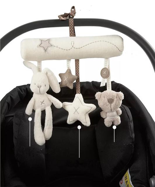 Accesorios Cochecito de bebé Cuna Cuna Caja de Música de Campana con Arm Holder Bebé Móvil Musical Cama Colgante Sonajero Juguetes de Regalo Recién Nacido