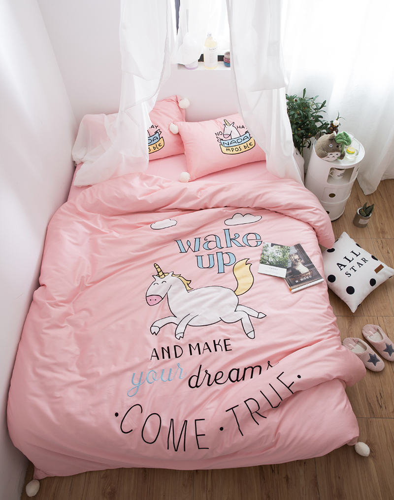 Compra unicornio ropa de cama online al por mayor de china for Cama unicornio