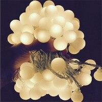 10 متر صغيرة لمبة شكل دافئ الأبيض 220 فولت led الإضاءة سلاسل عيد عرس حزب زينة للمنزل في سلسلة أضواء