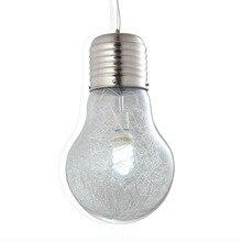 Современный Блеск Большой Лампы Абажур Подвесной Светильник Стеклянный Шар Лампы Кухня luminaria Светильник abajur avize droplight