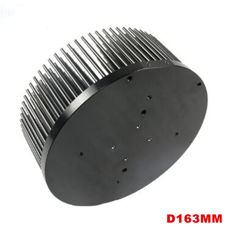 163mm Pre drilled aluminum LED heatsink for COB CREE CXB3590 Bridgelux Vero29 gen7 Citizen clu048 1212