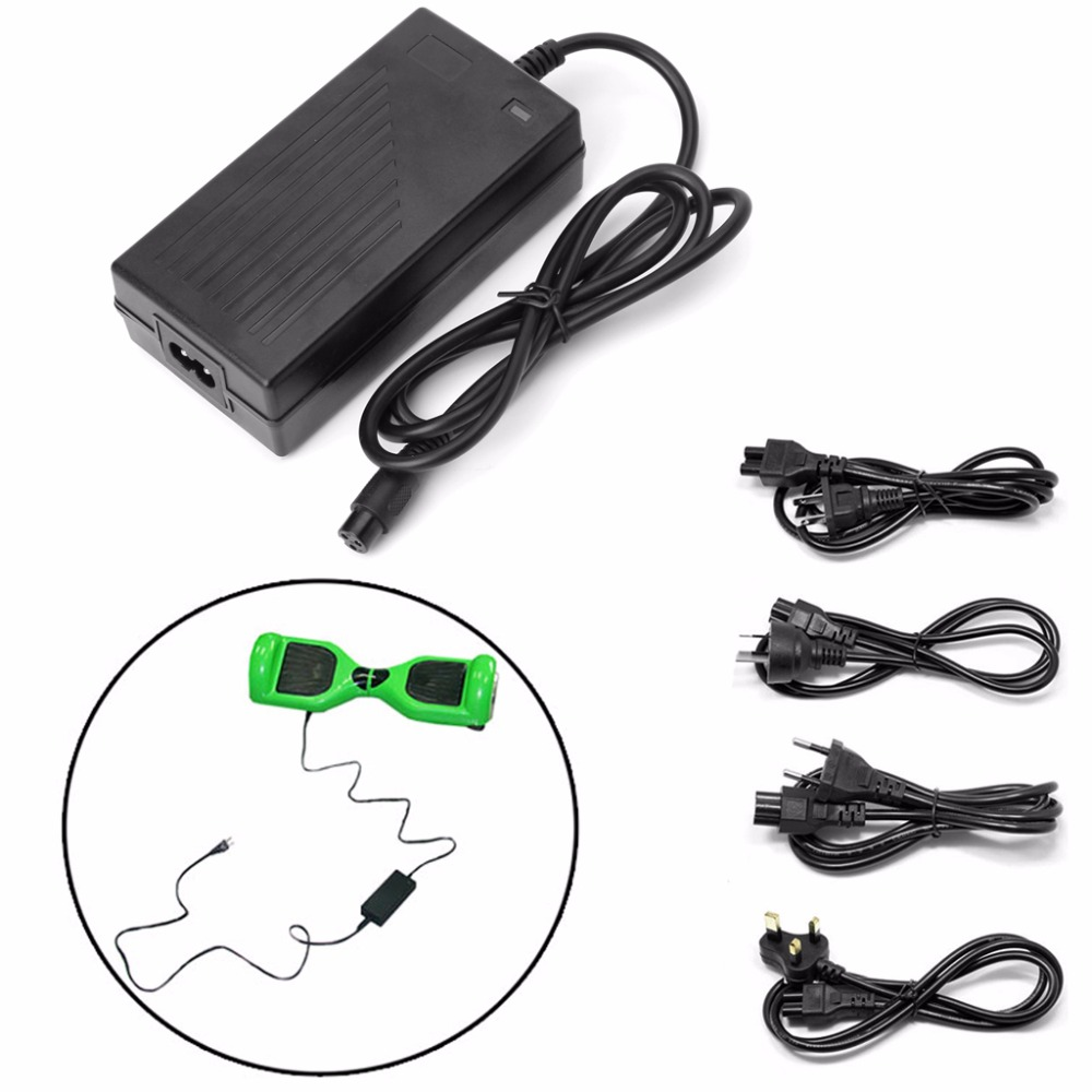 1Pc 42V 2A AC DC Power Adapter Battery Charger For Smart Balance Scooter Wheel