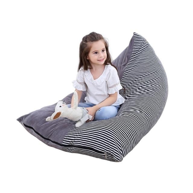 1 Pc Stuffed Animal Storage Bean Bag Chair Baby Kid Toy Sofa Clothes Organizer For
