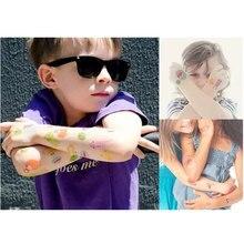 Купить с кэшбэком Krasivyy children temporary tattoos stickers cartoon lips skull cross colorful tattoos flash tattoo paste makeup girls tattoo