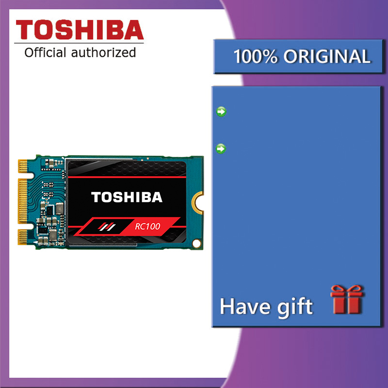 Toshiba RC100 NVMe SSD 240GB Solid State M.2 2242 PCIe 3.0*2 SSD Hard Drive Internal Solid State Drive Disk for Laptop Desktop
