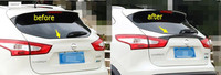 Lapetus Accessories For Nissan Qashqai J11 2014 2018 Rear Tailgate Spoiler / Rear Trunk Lid Plate Cover Trim Kit