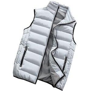 Image 4 - Gilet de marque pour hommes, veste chaude sans manches pour hommes, gilet chaud sans manches pour hommes, grande taille 5XL 2020, printemps, automne manteaux décontractés