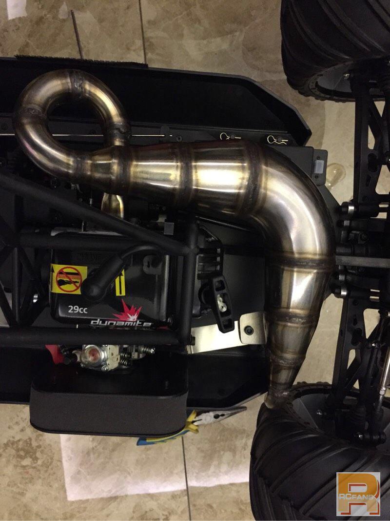 Hohe leistung Stahl edelstahl auspuffrohr melodie rohr für 1/5 rc auto Losi MTXL 4WD monster truck XL-in Teile & Zubehör aus Spielzeug und Hobbys bei  Gruppe 1