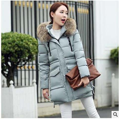 Großhandel Winterjacke Frauen Neue Haare Kragen Baumwolle