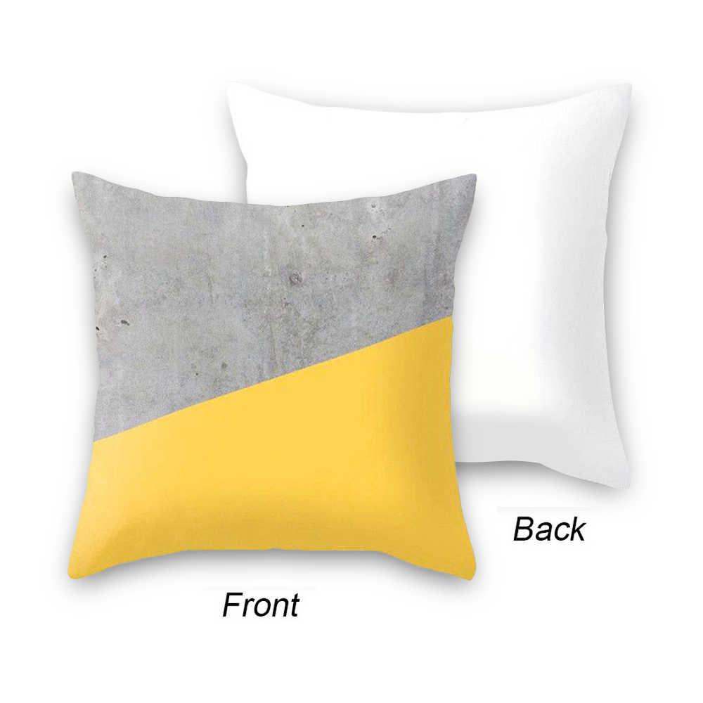 Urijk 45x45 см желтый полосатый наволочки геометрический Пледы Подушки Детские печать обложек Подушка Наволочка спальня офисные
