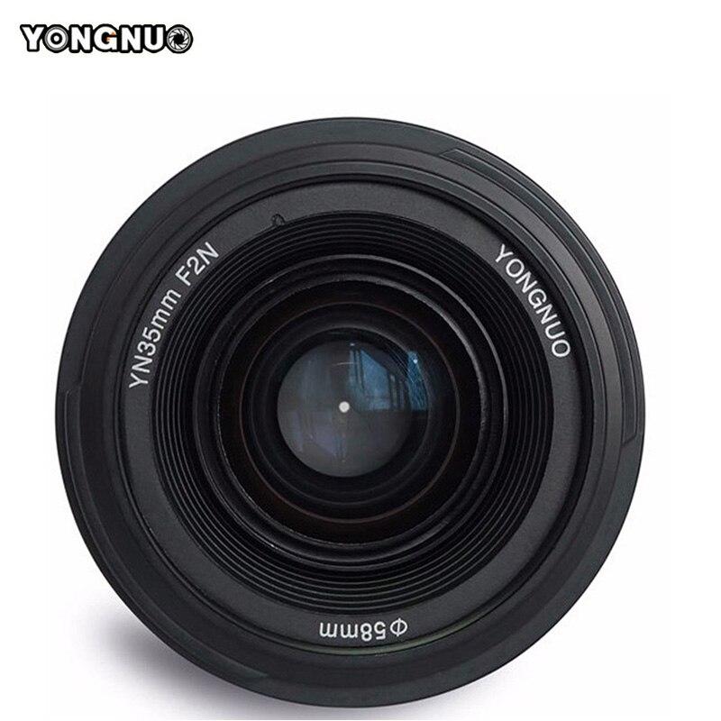 Objectif YONGNUO 35mm F2.0 AF/MF objectif fixe F1.8 AF/EF pour Canon Nikon F monture D3200 D3400 D3100 D7100 pour appareil photo DLSR