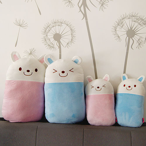 candice guo! creative personality strong rabbit cushion cute bunny plush toy doll expression face nut pillow birthday gift 1pc