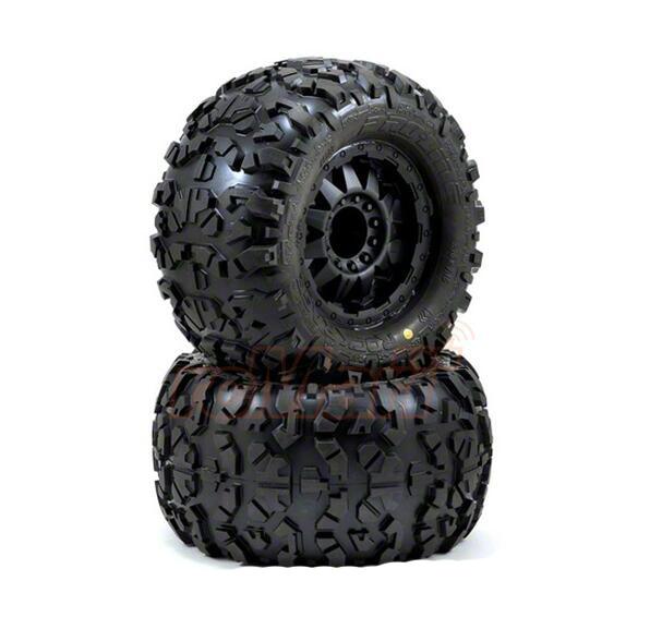 все цены на 2pcs Pro-Line Rock Rage 3.8 inch Tire w/ F-11 Black 1/2inch Offset 17mm Wheels For TMAXX EREVO SUMMIT #1199-13 онлайн
