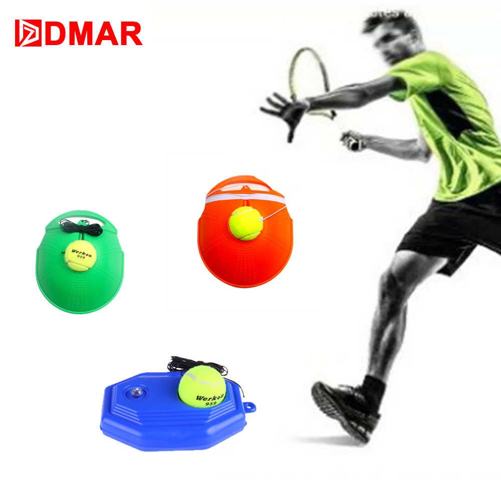 DMAR Portable Tennis Practice Trainer Durable Practical Tennis Practice Board Rebound Racquet Sports Tennis Trainer Ball